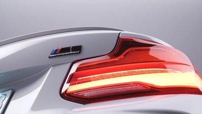 【樂駒】BMW M2 Competition Rear Trunk Badge 高光黑 字標 貼紙 外觀 精品