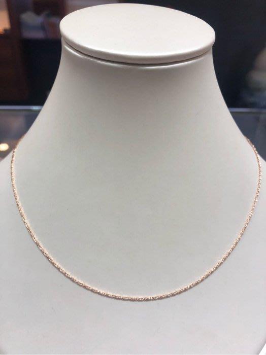 義大利585 14K金項鍊,玫瑰金項鍊,顏色漂亮閃亮質感超棒,超值優惠價2980