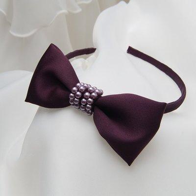 米米世界【 】 H052紫色兒童小禮服髮箍 頭花 女童禮服頭飾 伴娘髮圈 音樂會.畢業禮服髮飾.攝影禮服飾品