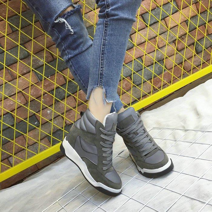=WHITY=韓國FUPA品牌 韓國製  代購正品街頭穿搭雙色增高厚底鞋顯瘦美腿  S6JR230
