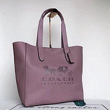 年底清倉 COACH 25099 全頭層牛皮LOGO壓紋大號側肩包 肩背購物包 手提女包美國100%正品代購 附購買證明