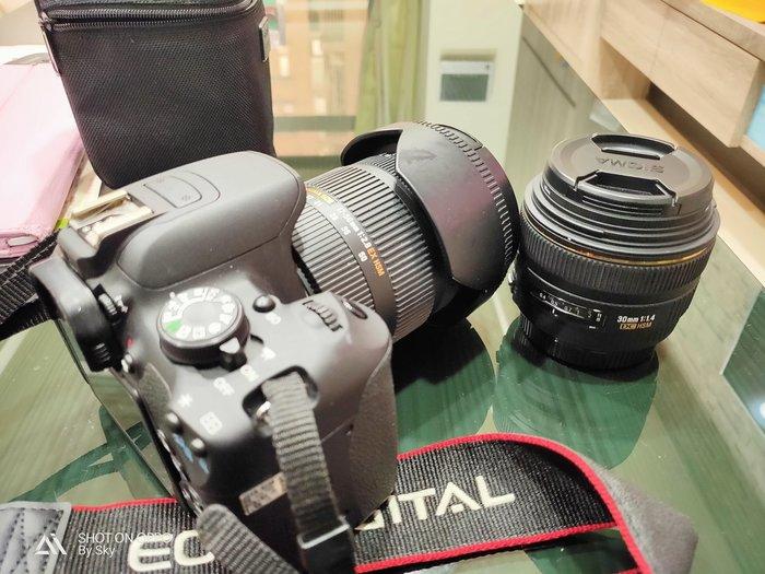 canon700D +sigma 17-50mm f2.8+sigma 30mm f1.4