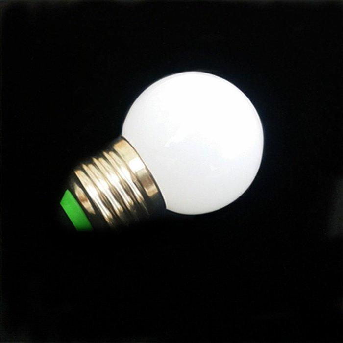 5Cgo【權宇】LED G45化妝台燈360度3W奶白罩110V燈泡 另5W 7W球燈 尖圓泡適合水晶燈 220V 含稅