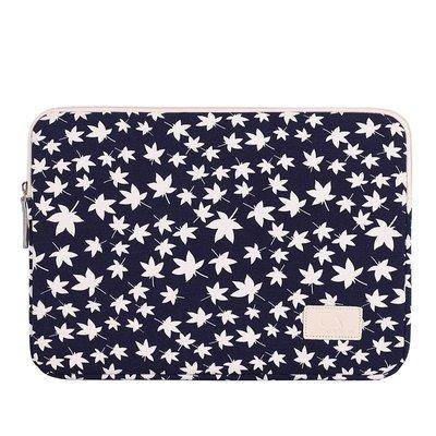 手拿包帆布電腦包-藍底楓葉印花休閒男女包包73vy18[獨家進口][米蘭精品]