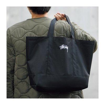 ☆Juicy☆日本mook雜誌附贈 STUSSY 經典 黑色 logo 刺繡 托特包 肩背包 環保袋 通勤袋 2359