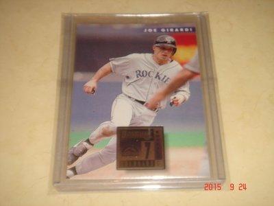 美國職棒 Yankees Manager Joe Girardi  1996 Donruss #12 球員卡