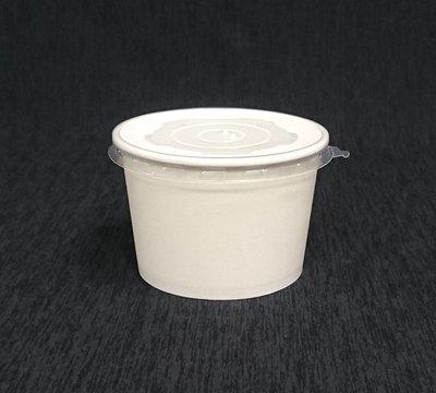 50組~全白 780湯杯 蓋 大口~白色紙碗 紙湯杯 紙湯碗 麵碗 紙餐盒 紙便當盒 免洗碗 晶得閒