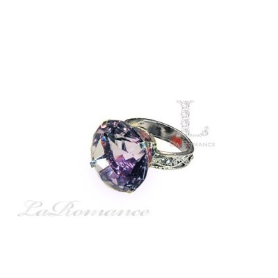 【芮洛蔓 La Romance】 3 cm 水晶鑽戒指造型餐巾環 - 紫色 / 情人節 / 求婚