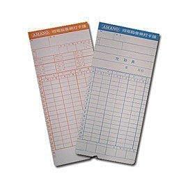 打卡鐘專用考勤卡/四欄位/六欄位/UT-2000/UT-9000/AMANO/STR-768/STR-8/STR-13✰