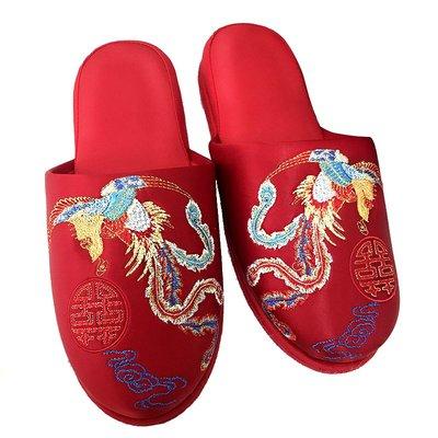 LANTERN 2019婚慶結婚拖鞋紅色老公老婆臥室內喜字情侶鞋子春夏喜慶用品