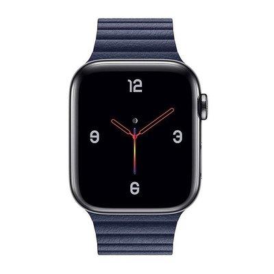 適用蘋果applewatch4皮質回環磁吸回環手表帶男女皮表帶iwatch1234代運動3842mm4044潮