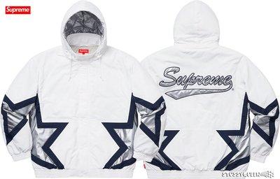 【超搶手】全新正品 2019 Supreme Stars Puffy Jacket 星星 鋪棉防潑水外套 白色 S