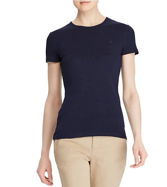 Lauren Ralph Lauren LRL 現貨 女生款 短袖 T恤 素T 藍色