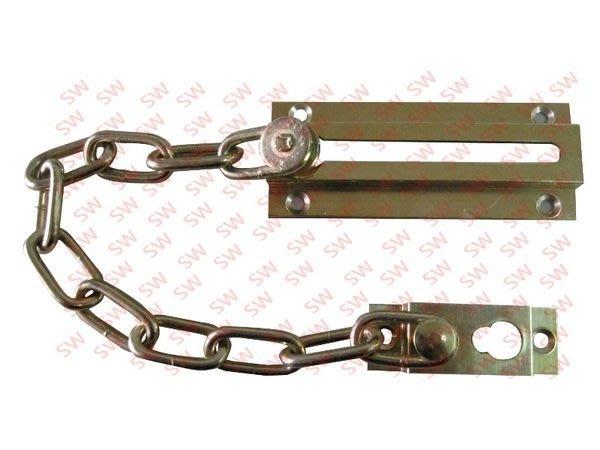 HK005 銅製 金色 防盜鏈 安全門鏈 防盜鏈 門鍊 門鏈 防盜鎖 鍊鎖 門閂 門鎖 DIY 台灣製
