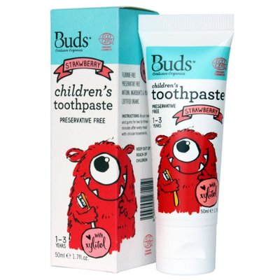 Buds - 3-12 years Children's Toothpaste with Fluoride (Strawberry) 草莓味 50ml