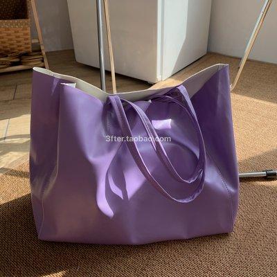 少女研究所~小眾系列|3fter訂製款 purple outfit西米紫不撞款出街單肩托特包