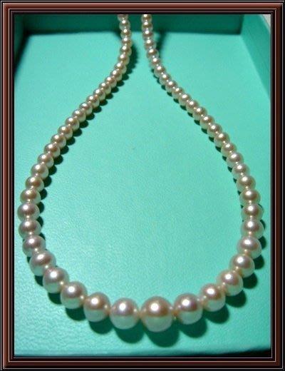 天然珍珠串鍊 母親節最佳禮物 再加贈天然珍珠耳環一付