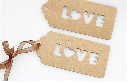 Amy烘焙網:20枚/LOVE復古牛皮卡紙包裝盒裝飾吊卡/包裝袋吊牌/手工皂裝飾吊卡/婚禮小物吊牌