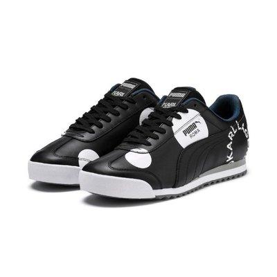【GROUP A】PUMA ROMA x KARL LAGERFELD 黑白 黑標 皮革 復古 休閒鞋 37123401