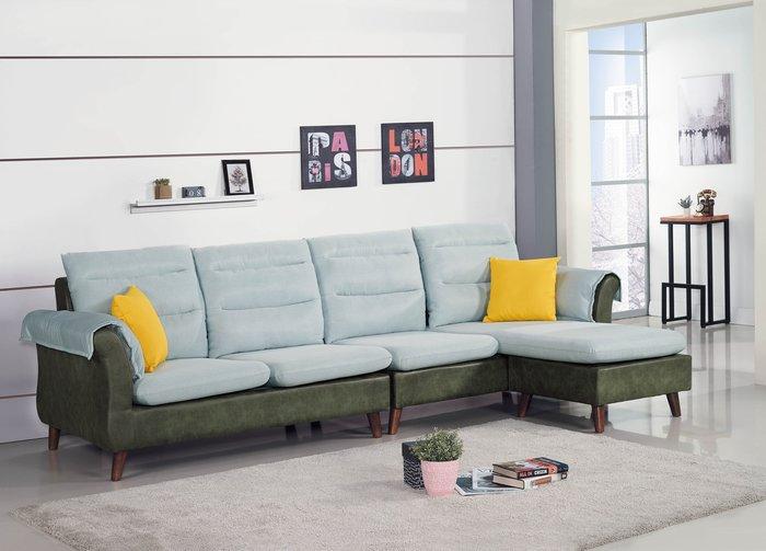 【DH】商品編號BC148-1商品名稱L型沙發組287CM(圖一)輔助椅可左右移動擺飾.主要地區免運費