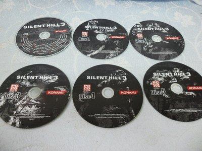 【金玉閣A-2】遊戲光碟+CD~Silent Hill 3 沉默之丘3 PC版(共6片)英文版