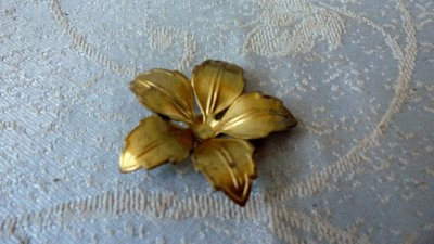 黑色小館B10~~~~~銅製壓花片10朵