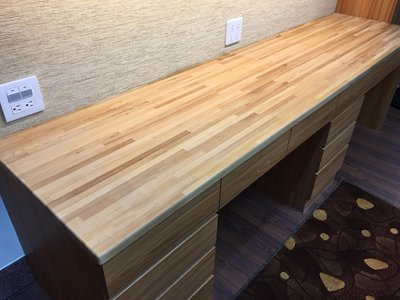 【台灣檜木拼板】 - 單面清版 舊料新作 餐桌 展示桌 櫃台 工業風 餐桌 門實木 復古 書桌 辦公桌