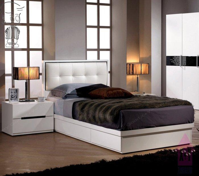 【X+Y時尚精品傢俱】現代單人床組系列-波爾卡 白色3.5尺單人床頭片.不含床頭櫃及床底.另有雙人.摩登家具