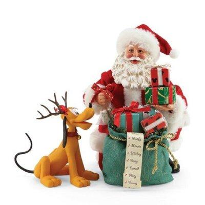 🗽Dona美國代購🗽預購 Enesco 迪士尼布魯托與聖誕老人 塑像 公仔擺飾裝飾