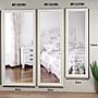 *綠屋家具館*【MR1889WH】99A(180x80)象牙白浮雕掛鏡 穿衣鏡 全身鏡(防爆安全鏡片)