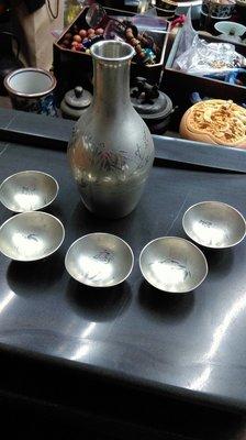大草原典藏,日本老錫壺組