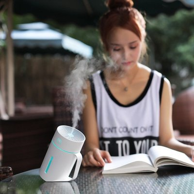 【1號杯420ml空氣加濕器】加濕香薰機 精油機 7彩夜燈 薰香機 水氧機 薰香器 精油燈 香氛機