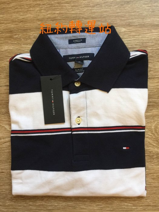紐約轉運站 : TOMMY HILFIGER 男生舒適棉質 LOGO圖案 POLO短衫 全新現貨在台美國購入