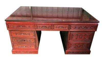 樂居二手傢俱(中) 便宜2手傢俱拍賣 RW122301*紅木10抽主管桌 辦公桌*2手桌椅 餐桌 會議桌 辦公桌