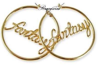 Disney Couture 台北ShopSmart直營店 好萊塢 FANTASY 奇思妙想靈感 金色圓耳環 絕版特價