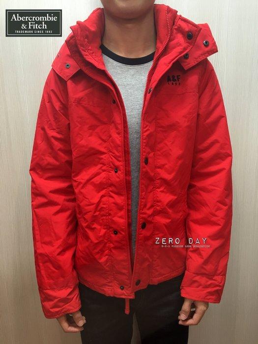A&F Abercrombie&Fitch限定款All-Season Weather Warrior風衣連帽外套-紅色