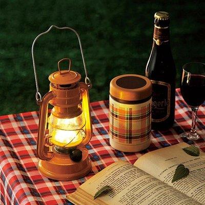 [暖遊小時光]日本 ♣復古風格LED小油燈_芥末黃♣ 露營 小夜燈 野餐燈 現貨