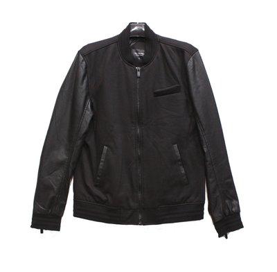 TBJ NEARBY 針織 PU皮 T151JP230P夾克