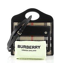 美國連線 全新正品 BURBERRY 80296931 MINI LATTICED LEATHER POCKET BAG
