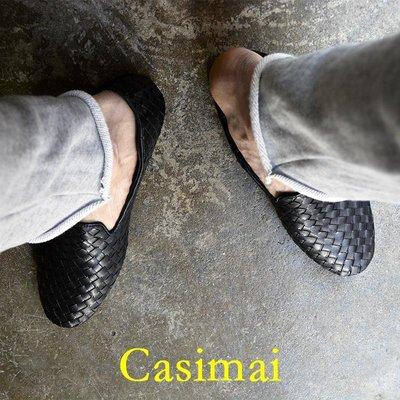 【 Casimai 】  Loafer 駕車舒適牛皮樂福鞋 青年手工編織懶人鞋軟底軟皮