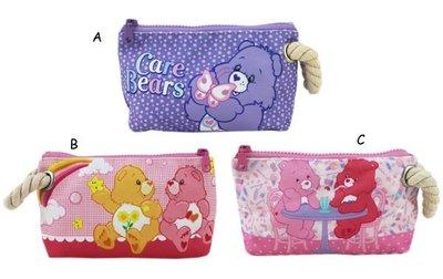 【卡漫迷】 七折出清 彩虹熊 化妝包 ㊣版 Care Bears 愛心熊 帆布 拉鍊 鉛筆袋 萬用包  /款