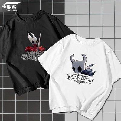 圓領棉質T恤空洞騎士Hollow Knight沙盒STEAM游戲周邊t恤衫短袖男女半袖衣服