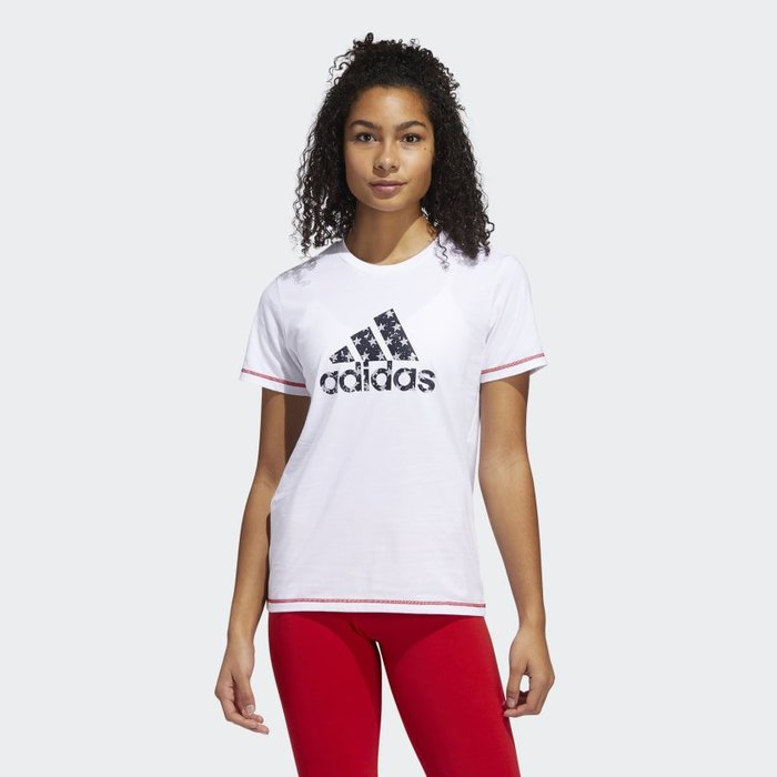 南 2020 6月 Adidas TRAINING AMERICANA TEE GK3638 白 美國 休閒短T 女款