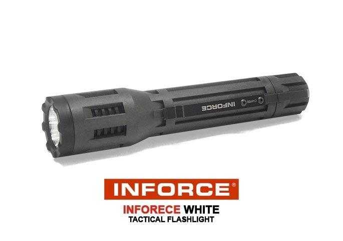 【angel 精品館 】美國 INFORCE WHITE LED多段 LED 手電筒INF-B-W (黑色+黑色盒裝)