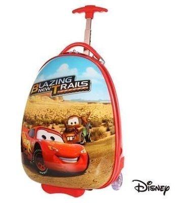 GIFT41 4165本通 三重店 Disney 迪士尼 Cars 麥坤 16 吋 蛋形 旅行箱 行李箱 兒童箱 紅系 CN00C16RD