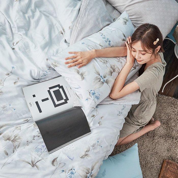 床包被套組 / 雙人【微月遠蝶】含兩件枕套  60支天絲  戀家小舖台灣製AAU212