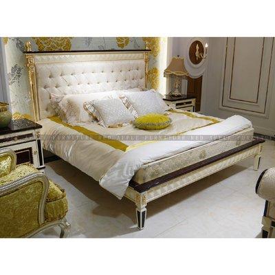 [紅蘋果傢俱] CT-038凡賽斯宮廷系列 床架 床尾凳 床頭櫃 歐式 高檔床台 雙人床 歐式床 法式床 新古典床