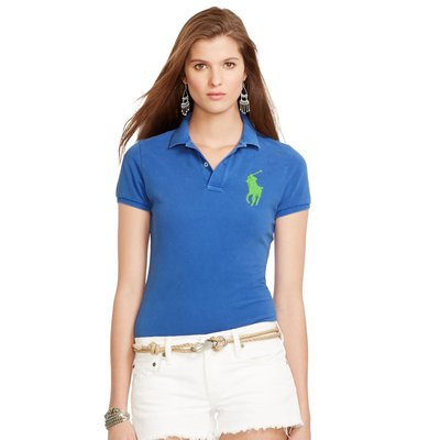 POLO Ralph Lauren 全新現貨 大馬短袖 Polo衫Skinny Fit 藍色 S M L官網購入保證正品