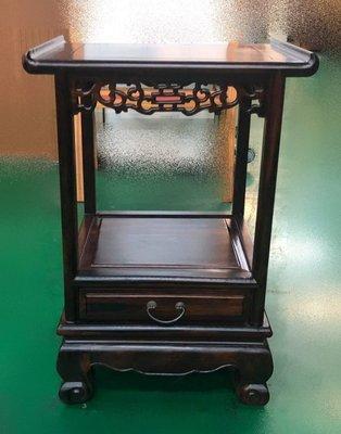 樂居二手家具 台中全新中古傢俱家電 ZM607AH 全新雞翅木一抽花架*電話架 藝品架 仿古家具 雕刻藝品 原木傢俱
