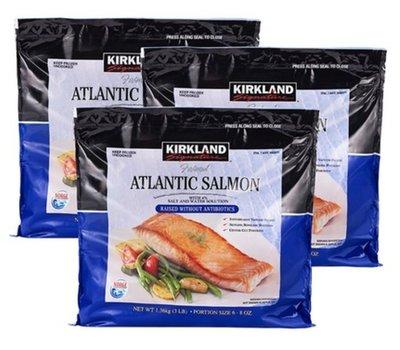 【COSTCO好市多商品代購】 Kirkland Signature 科克蘭 冷凍鮭魚排 1.36公斤 X 3入